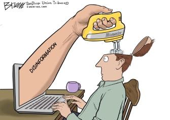 Editorial Cartoon U.S. internet social media disinformation