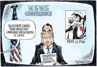 Political Cartoon U.S. cuomo pepe le pew