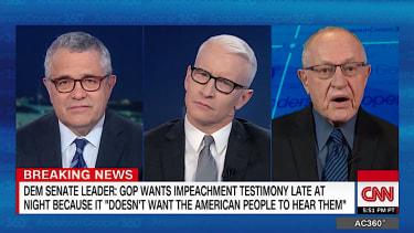 Jeffrey Toobin, Anderson Cooper, Alan Dershowitz