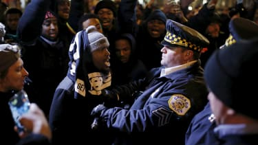 A protest in reaction to the fatal shooting of Laquan McDonald.