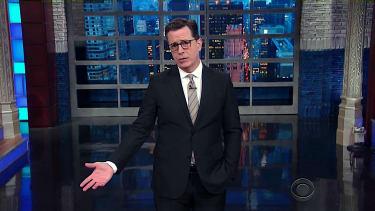 Stephen Colbert talks Elizabeth Warren
