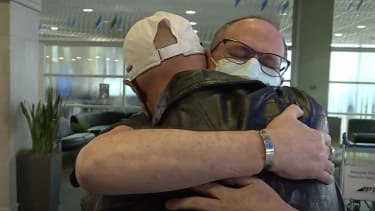 Brothers Martin Hauser and Joe Shaw meet for the first time.