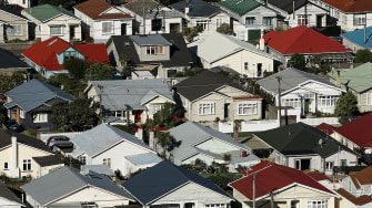 Houses in New Zealand.