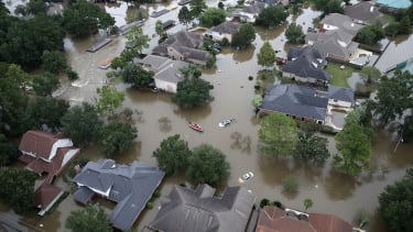 Flooded homes in Houston