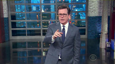 Stephen Colbert body-slams people, too