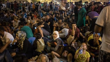 Migrants are forced to wait in Budapest.