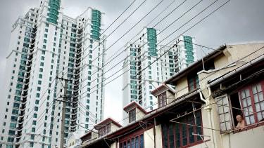 Residential apartments in Shanghai on September 1, 2010