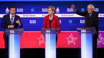 Pete Buttigieg, Elizabeth Warren, Bernie Sanders.