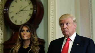 Melania Trump and Donald Trump.