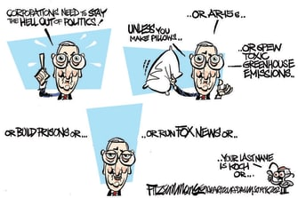 Political Cartoon U.S. mcconnell corporate donations