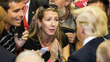 Am enthusiastic supporter meets Donald Trump