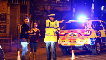 A police officer in Manchester.