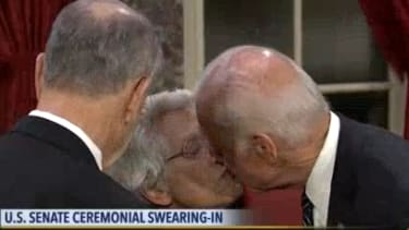 Joe Biden and Senator Grassley's wife, Barbara.