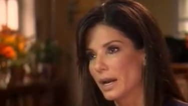 "Sandra Bullock talks with ""Today"" show's Matt Lauer."