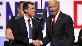 Pete Buttigieg and Joe Biden.