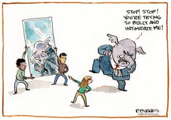 Political Cartoon U.S. gop