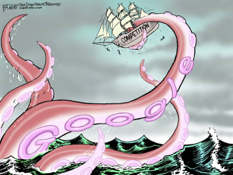 Editorial Cartoon U.S. Google competition antitrust