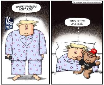 Political Cartoon U.S. Trump Barr