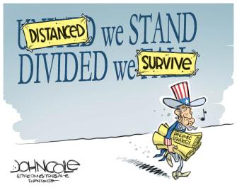 Editorial Cartoon U.S. social distancing coronavirus