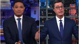 Trevor Noah and Stephen Colbert talk Justin Trudeau's blackface