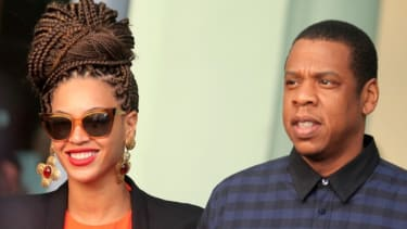 Beyonce and Jay-Z leave their hotel in Havana, Cuba on April 4.