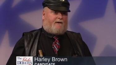 Leather-clad, semi-toothless biker steals the show in Idaho gubernatorial debate