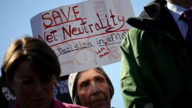Net neutrality protest.