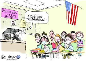 Editorial Cartoon U.S. school reopenings coronavirus