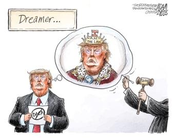 Political Cartoon U.S. Trump DACA ruling king