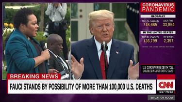 Trump at a press conference