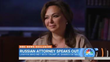Kremlin-linked lawyer Natalia Veselnitskaya denies her connection to the Russian government.