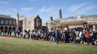 Students protest at University of Missouri on Dec. 1