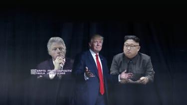 Trump, Bill Clinton, and Kim Jong Un