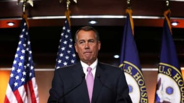 """John Boehner and Co. """"seem to hope a deal will be born by way of immaculate conception,"""" says The New York Times' Paul Krugman."""