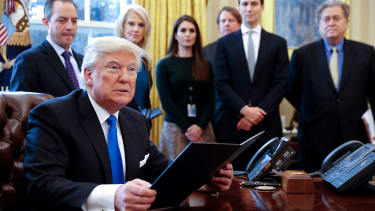 Donald Trump is exploring a new executive order on trade