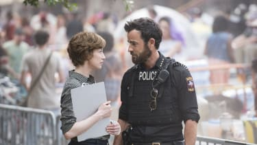 Carrie Coon and Justin Theroux in 'The Leftovers.'