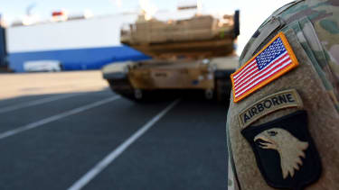 U.S. military gear arrives in Germany