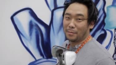 David Choe paints a mural at Facebook's headquarters in 2005