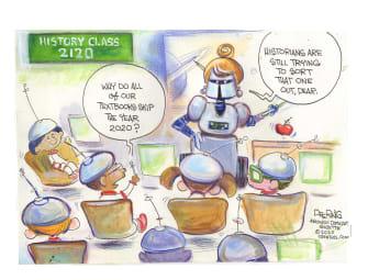 Editorial Cartoon U.S. 2020 future