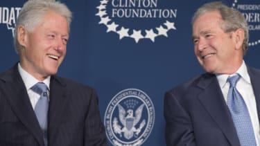 Former Presidents Bill Clinton and George W. Bush.