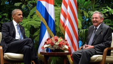 President Obama and Raúl Castro