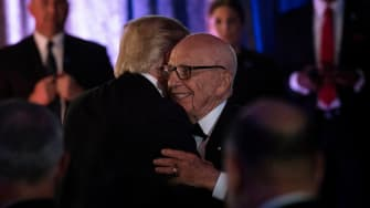 Trump and Rupert Murdoch in 2017