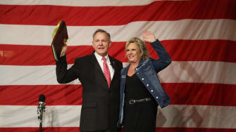 Roy Moore and wife.