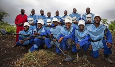 HALO Trust workers who cleared landmines.