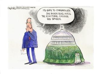 Political Cartoon U.S. Trump Mitch McConnell