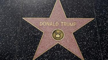 Donald Trump Hollywood walk of fame star.
