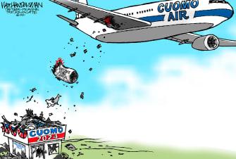 Political Cartoon U.S. cuomo nursing home deaths 2024