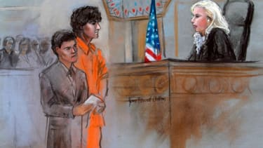 A courtroom sketch