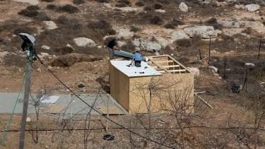 Israeli settlements on Palestinian land.