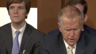Sen. Thom Tillis speaking at Brett Kavanaugh's hearing.